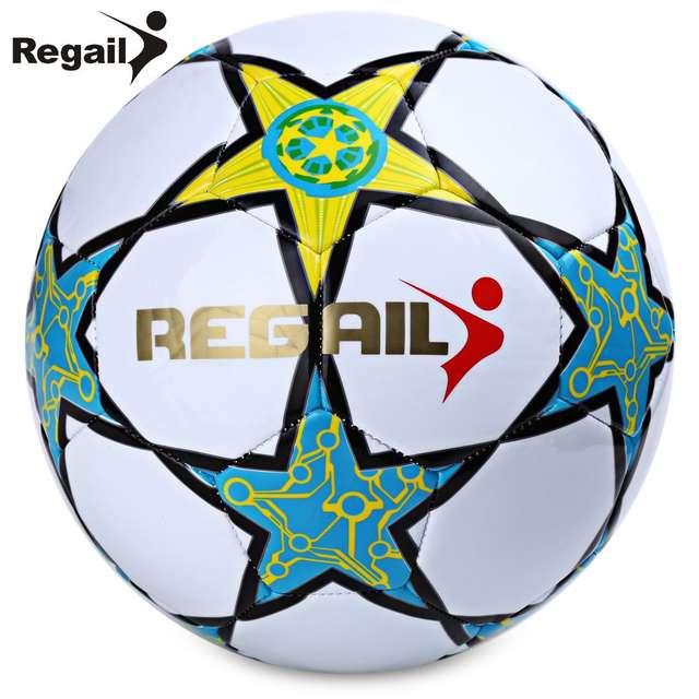 12f424651 placeholder 2016 Venda Quente Bola de Futebol Regail Estrela de Cinco  pontas-PU Couro Sintético Branco