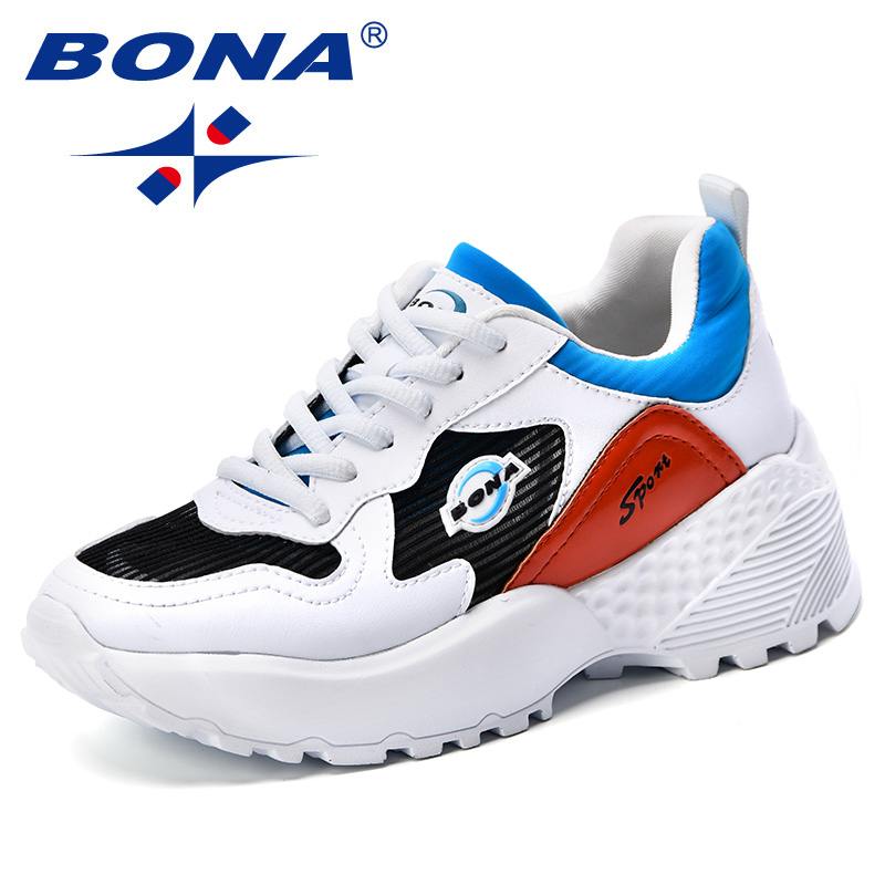 BONA New 2018 Autumn Fashion Women Casual Shoes Microfiber Platform Shoes Women Sneakers Lady Mixed Color Trainer Chaussure FemmBONA New 2018 Autumn Fashion Women Casual Shoes Microfiber Platform Shoes Women Sneakers Lady Mixed Color Trainer Chaussure Femm