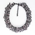PPG&PGG Charm Jewelry Gorgeous Z Brand Black Rhinestone Collares Mixed Crystal Choker Necklaces