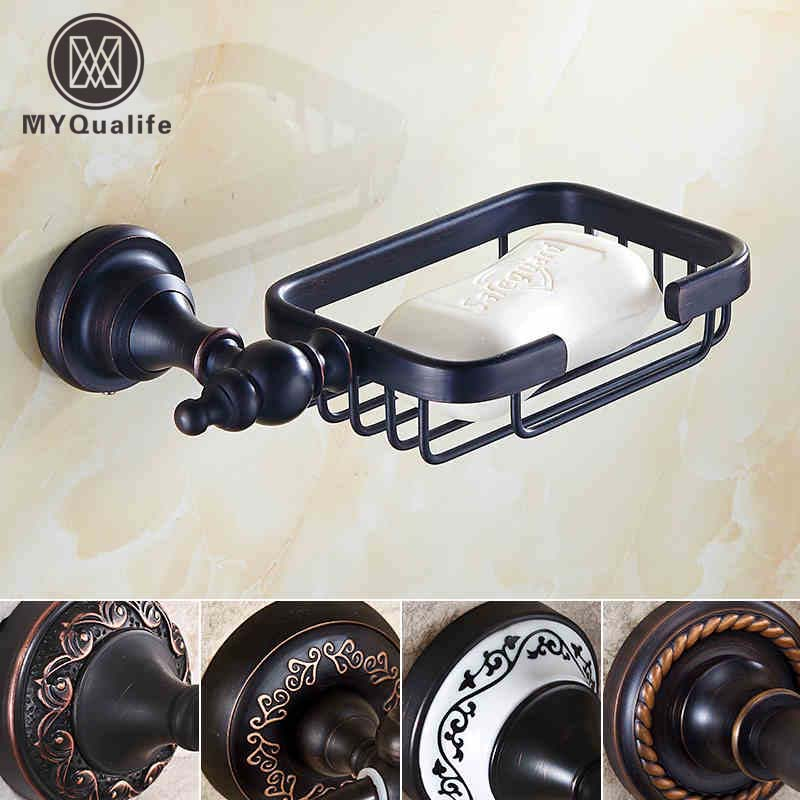 5-style Wall Mount Brass Soap Dish Basket Oil Rubbed Bronze Bathroom Kitchen Soap Holder/rack beelee modern wall mount solod brass shower basket and storage caddy soap wire basket shower holder oil rubbed bronze finish