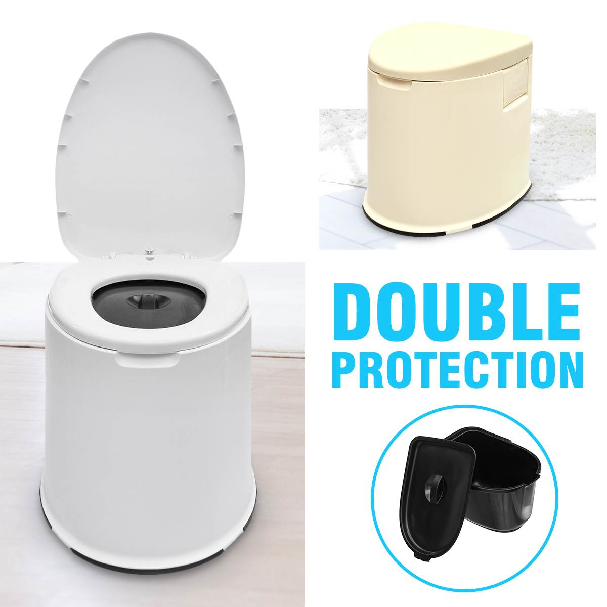 Us 69 6 52 Off 12l Capacity Comfort Portable Toilet Mobile Toilet Travel Camping Commode Potty Outdoor Indoor In Urinals From Home Improvement On