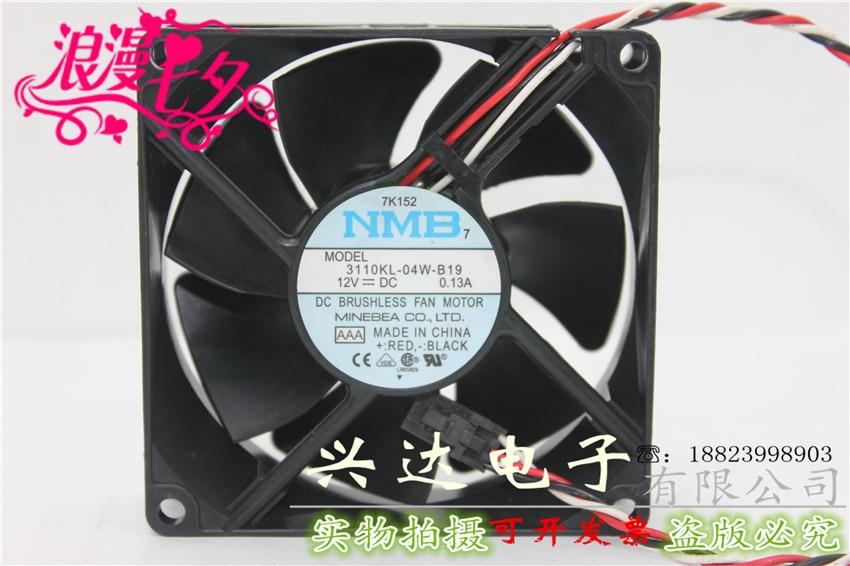 3110KL-04W-B19 12V0.13A 8025 8 см ультра-тихий вентилятор охлаждения шасси компьютера