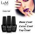 ibdgel 3 Pcs Set Brands Nails Polish DIY Art For Women Hot sale 2017 (1Color Gel+1Top +1Foundation Base ) Last more 30 Days