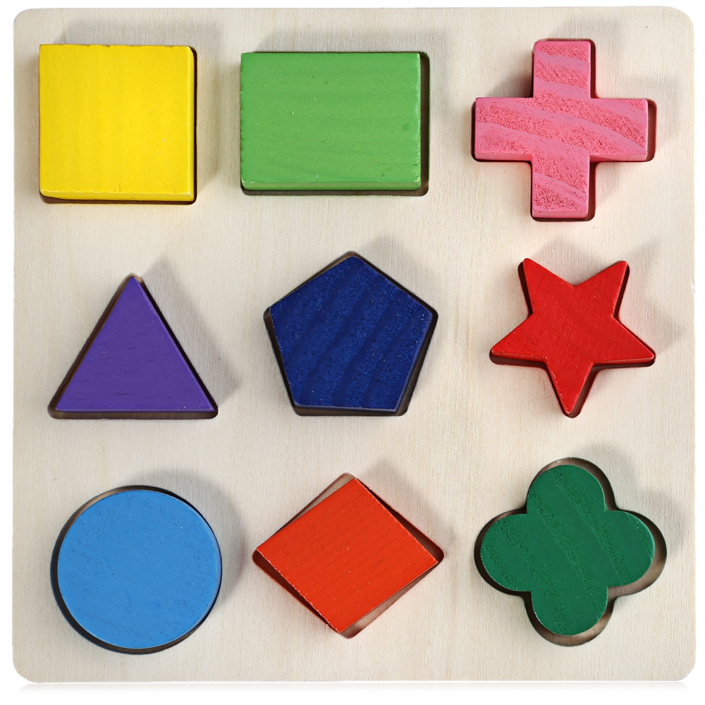 Wooden 3D Geometry Stacking Block Puzzle Educational Toy for Kids Teaching Tools Accessory Toys Early Education Toys Kids Gifts