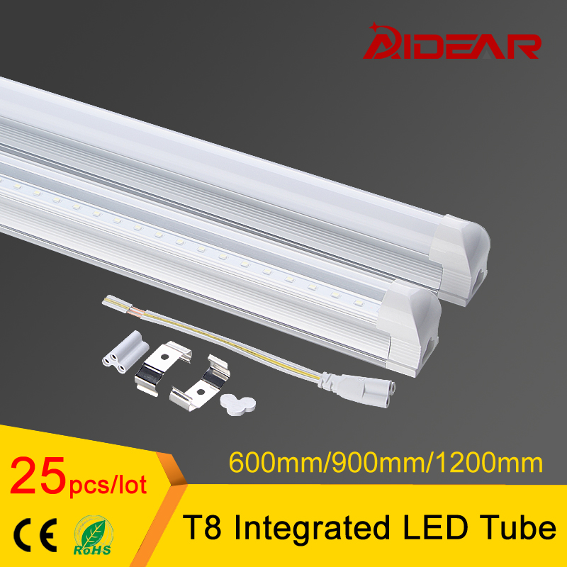 1200mm 4ft T8 integrated led tube lamp with Clear Cover/Milky Cover integrating led tube AC85-265V t8 integrated led tube 5ft 1500mm 24w with accessory completed set easy install milky cover clear cover available high quality