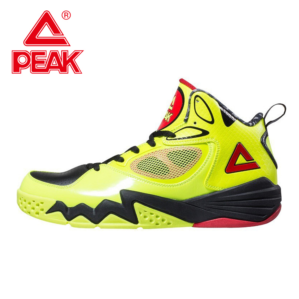 PEAK SPORT Monster II Men Basketball Shoes Breathable Training Competitions Sneakers FOOTHOLD Tech High-Top Athletic Ankle Boots peak men athletic basketball shoes tech sports boots zapatillas hombres basketball breathable professional training sneakers