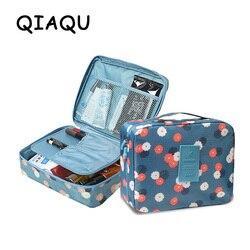 QIAQU, брендовая мужская и женская косметичка, косметичка, красивый чехол, органайзер для макияжа, сумка для туалетных принадлежностей, наборы...