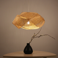 Creative personality bamboo chandelier tea shop restaurant lamp new Chinese Zen lamps barber shop wifi lights Southeast Asia