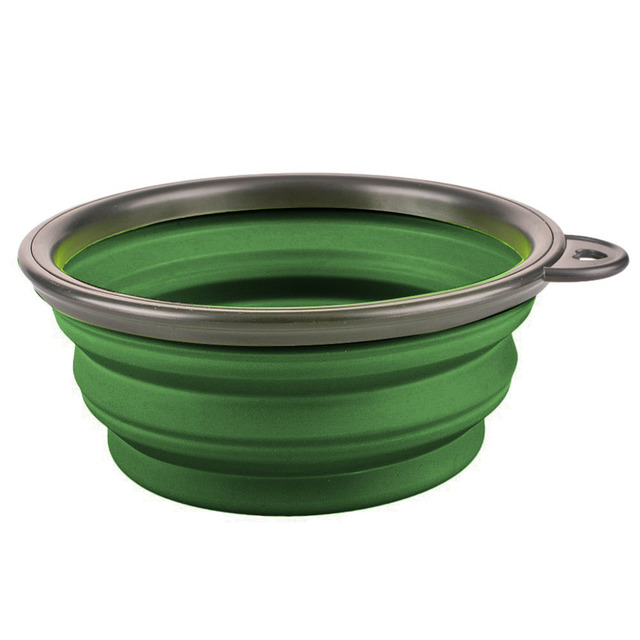 New Collapsible foldable silicone dog bowl candy color outdoor travel portable puppy doogie food container feeder dish on sale 5