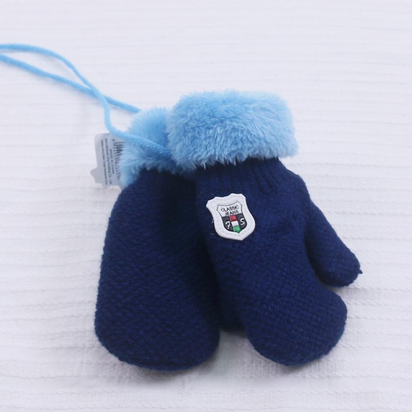 MUQGEW милые кошки девушки держать теплый вязаный кашемир анти-УФ кружевные перчатки грелка рук вязаные длинные перчатки - Цвет: Синий