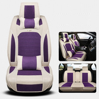 (Front+Back) Deluxe Linen Universal Car Seat covers for Nissan 350z almera classic g15 n16 bluebird cefiro juke car accessories