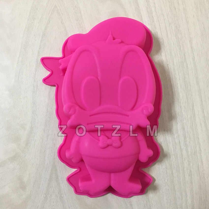 3D мультфильм утка Форма торт форма мультфильм силиконовая формочка в виде животного помадка торт декоративные инструменты для выпечки Кухонные аксессуары GJD074
