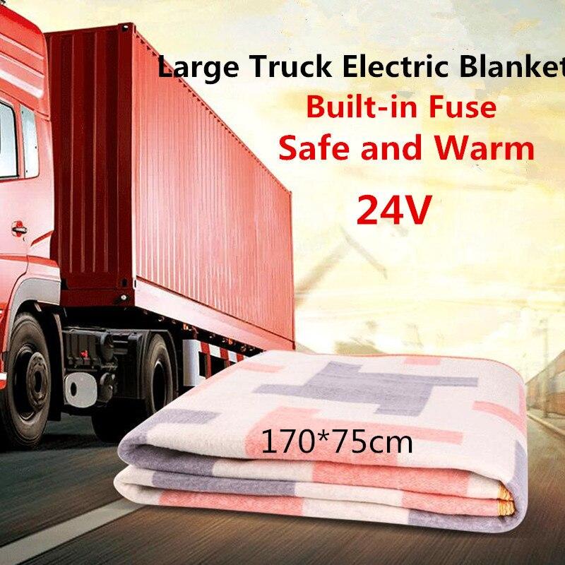 Free Shipping Car Electric Blanket 24 V Large Truck Single Electric Blanket Large Truck  Heating Blanket USB Sleeper Pad