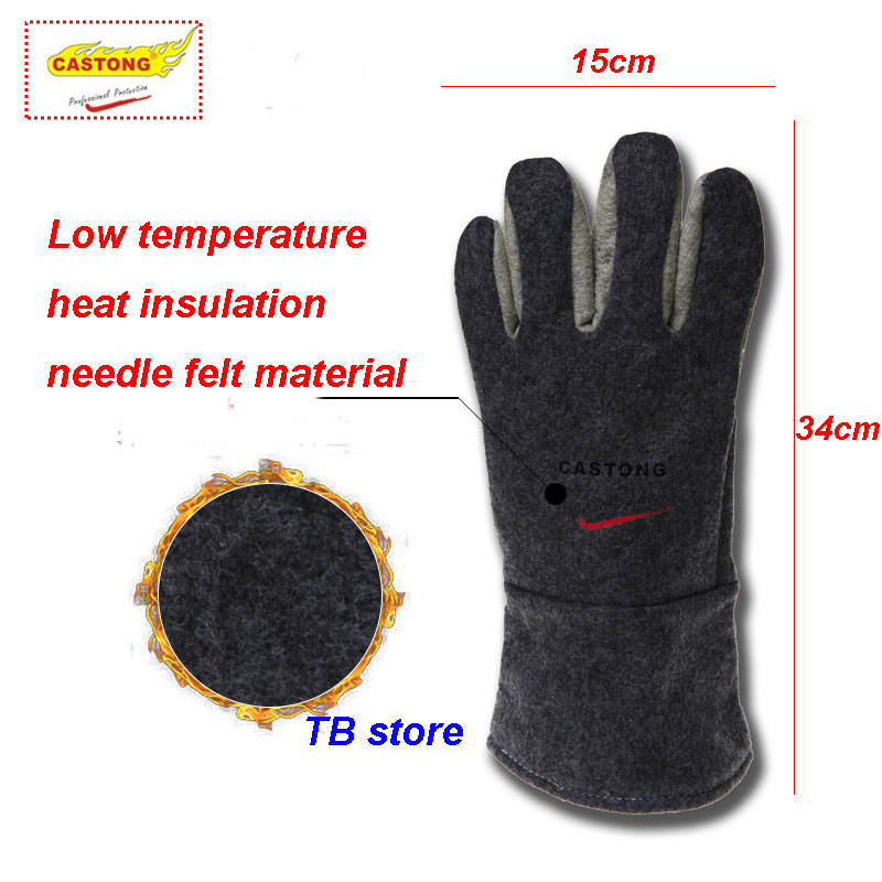 Workplace Safety Supplies Security & Protection Safety Gloves High Temperature Protective Gloves 300 Degrees Insulation 34cm Heat Resistant Gloves For Bakery Kitchen Clients First