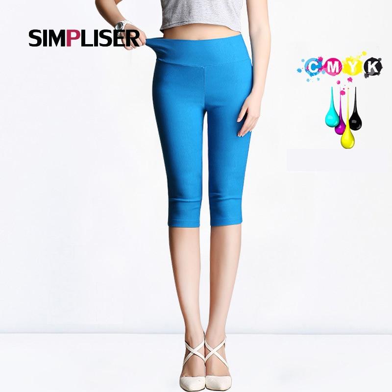 SIMPLISER   Capri     pants   Women 2018 Summer Stretch Pencil   Pants   Calf Length Female Trousers Slim Leggings Femme Pantalon Plus Size