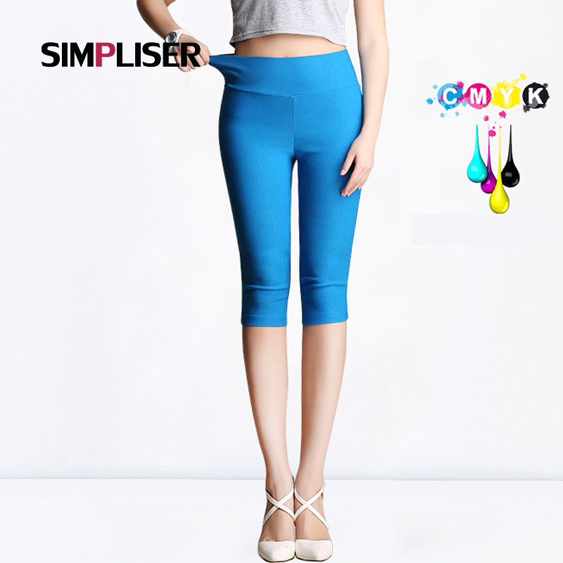 SIMPLISER Capri pants Women 2018 Summer Stretch Pencil Pants Calf Length Female Trousers Slim Leggings Femme Pantalon Plus Size