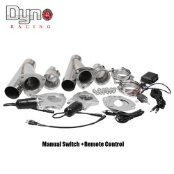 Dyno-2.25 2.5 3 بوصة 2xCut خارج التحكم عن بعد/مفتاح يدوي الفولاذ المقاوم للصدأ Y رؤوس زوج الكهربائية العادم انقطاع الأنابيب عدة