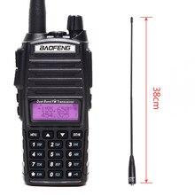 Baofeng UV 82 Plus 8W Poderosa Walkie Talkie Portátil CB Transceptor Amador 2 Rádio bidirecional UV82 + NA 771 Antena