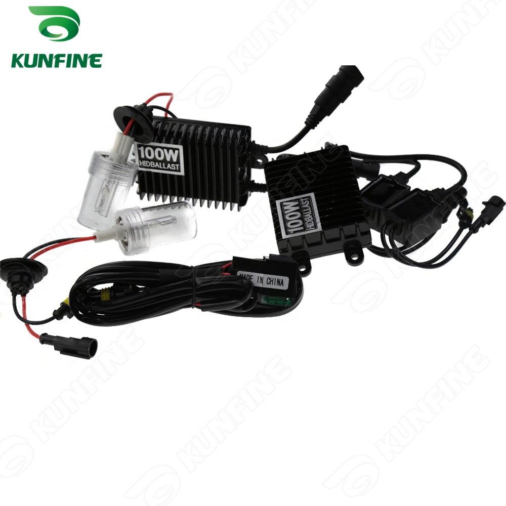 Phare xénon 12 V/100 W H1/H3/H7/H8/9004/H4-2/9005/9006/9007/880/D2S HID Kit de Conversion xénon voiture HID lumière avec ballast AC