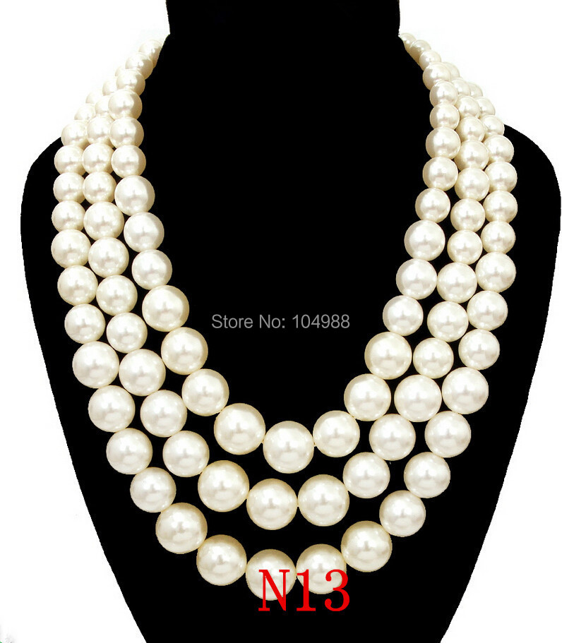 NEW ARRIVALS! Free Shipping Women Fashion White Imitation Pearls ...