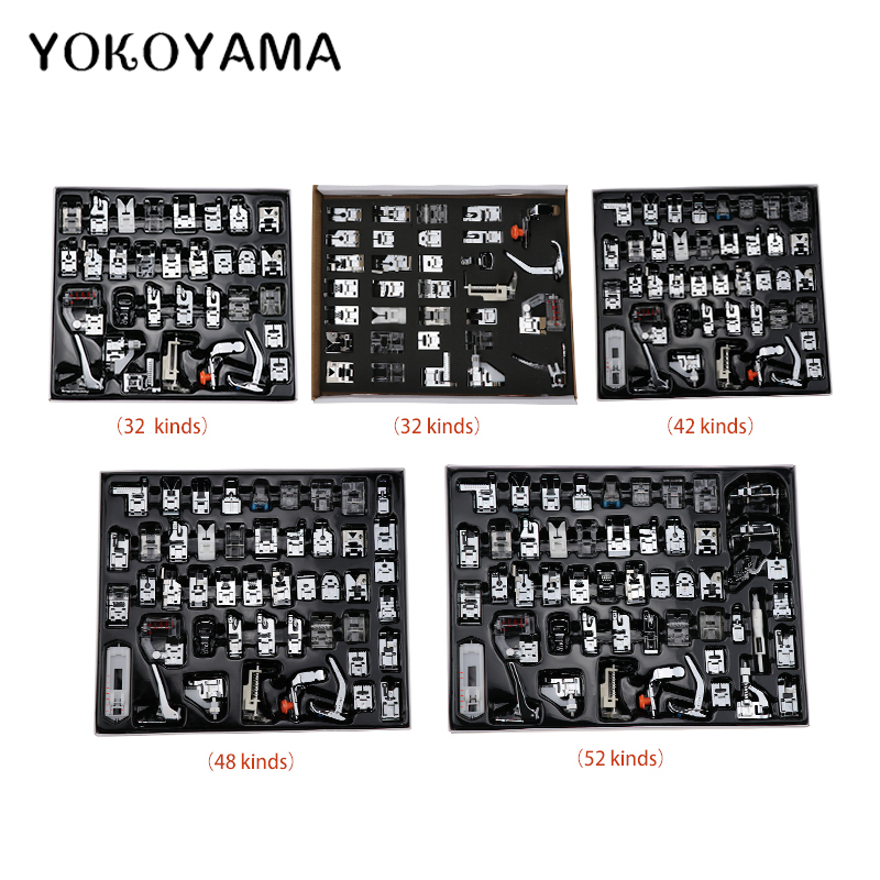11/32/42/48/52/62/35/45Pcs Sewing Machine Parts Sets Presser Foot Suit Multifunction Sewing Kit Combination Sewing Machine Parts