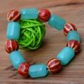 Natural Green Dreamlike Agate Bracelet Ceramic Round Beads Agate Bracelet Crystal Bangles Bracelet Women's Jade Jewelry