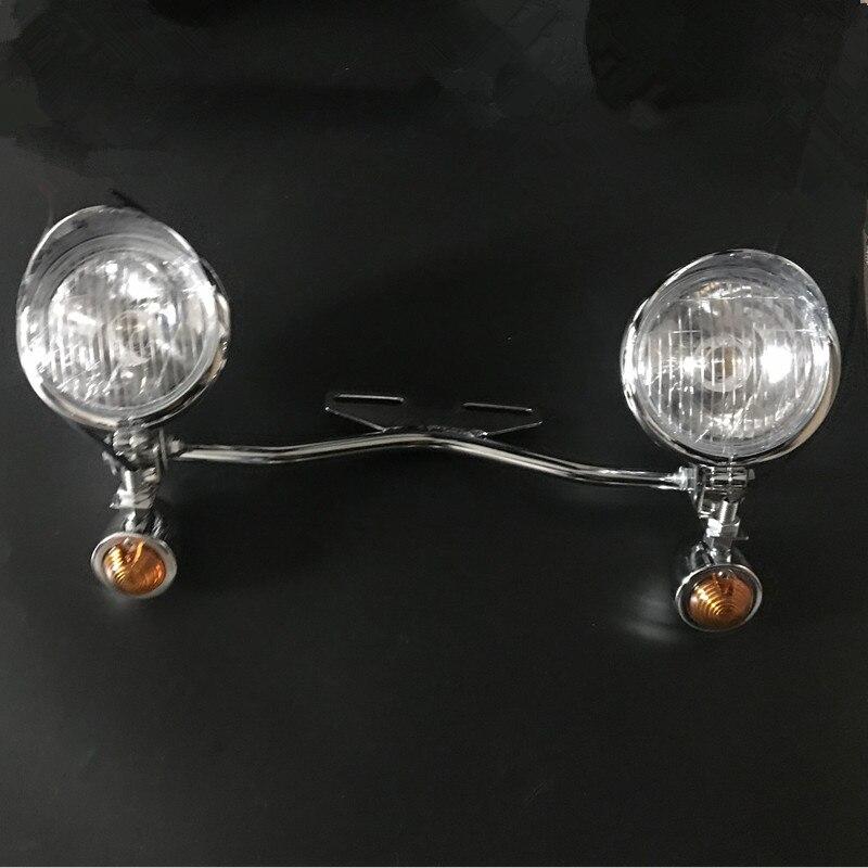 Virage de conduite en ambre pour lampe de signalisation Yamaha passant la barre de lumière de la route