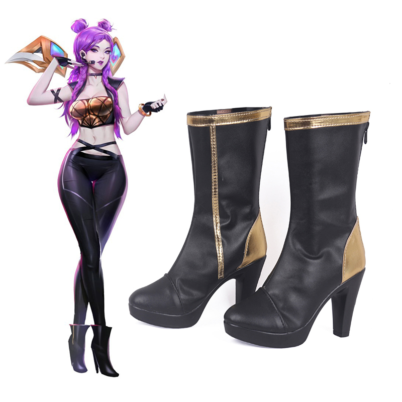 Game LOL Cosplay Shoes KDA Kaisa Cosplay Shoes Boots Halloween Party Women Cosplay Costumes Daily Leisure Shoes