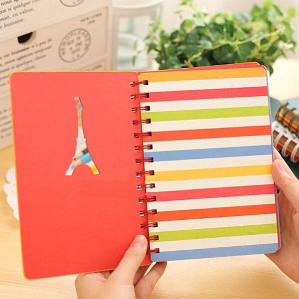 Torre eiffel espiral linda composición cuadernos, lindo diario de ...