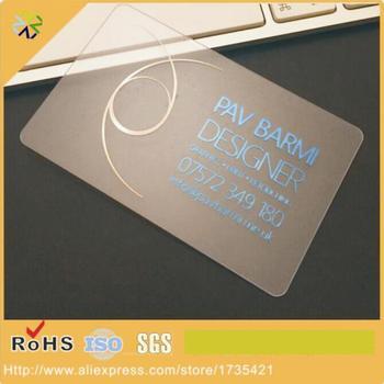 (500pcs/lot)2017 hot selling Transparent PVC Business Cards