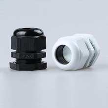 Waterproof nylon plastic cable connector Hot Sale  PG25 Black Or White Plastic Connector Cable Glands Ip68 16-21mm