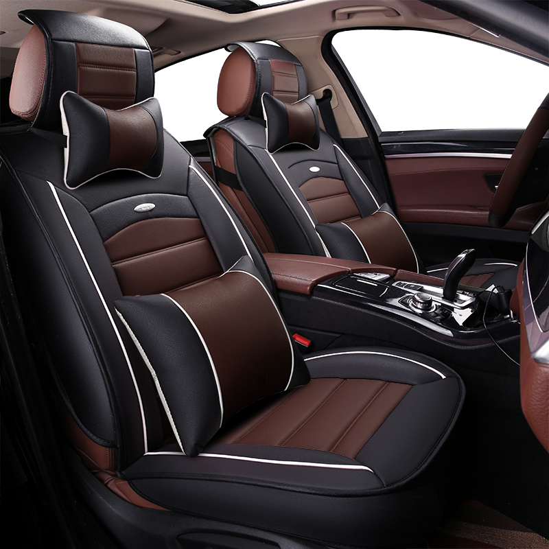 pu leather car seat cover auto seats covers for jaguar XE XF XJ x type E PACE F PACE I PACE s type Land Rover discovery 3