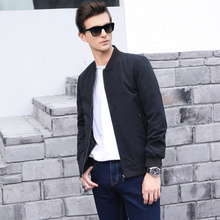 Men's business casual jacket British style 2017 spring and autumn simple wild male fashion coat brand clothing bomber jacket men