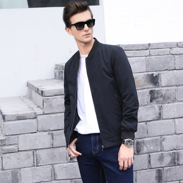 Men's business casual jacket British style 2017 spring and autumn ...