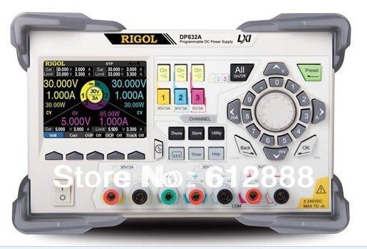 Rigol DP832A 3 Channels Programmable DC Power Supply 100-250 V AC 1pc rigol dp832 programmable linear dc power supply 3 channels