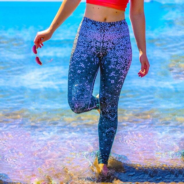 2016 New Fashion Skinny Slim Casual High Elastic Waist Fish Scale Leggings Pencil Pants Sporting Leggings For Women