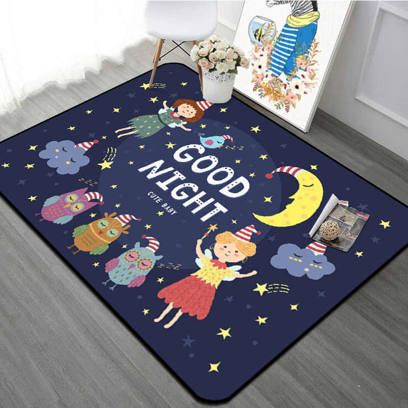 Cartoon Forest Friends Animal Children Carpet Kids Area Rugs For S Room Baby Play Crawling Floor Mat Christmas Rug