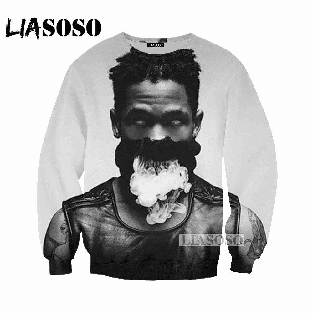 LIASOSO 2018 Latest Sweatshirt Men and Women Sweatshirt Singers Travis Scott 3D Print Sweatshirt Casual Designer Clothes W030