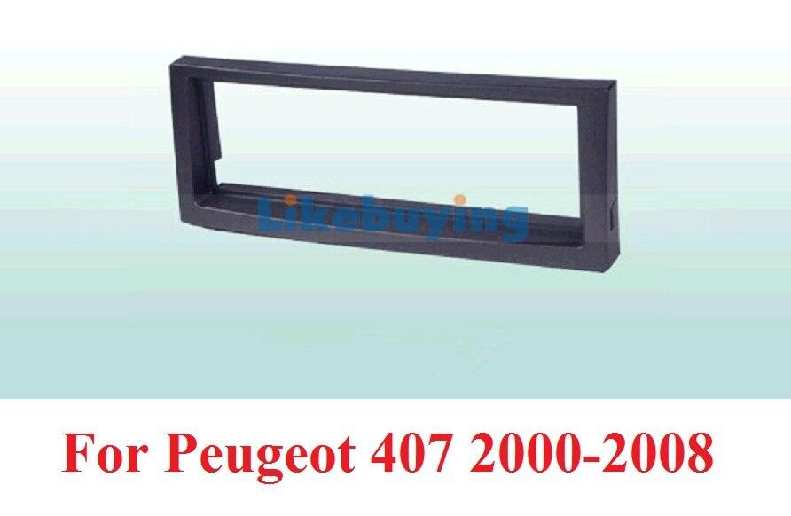 1 Din Car Fascia Panel Frame / Audio Panel Frame / Car Dash Frame Kit For Peugeot 407 2000-2008 Retail/Pcs Free Shipping