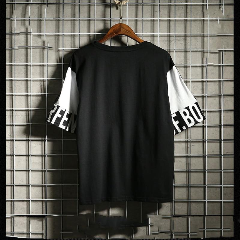 Hip Hop T Shirt Harajuku Streetwear Man's T-shirt Korean Half Anime Shirt Teen Clothes Black Shirt Free gift 6