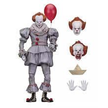 18cm 7inch Neca Stephen King's It Pennywise Joker Clown PVC Action Figure Toys Dolls Halloween Day Christmas Gift(China)