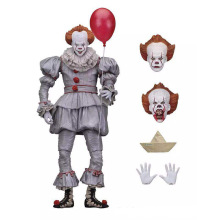 купить NECA scarry movie Stephen King's It Pennywise Joker clown Action Figure Toys cosplay horror Street Freddy Dolls Halloween Day дешево