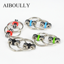 2017 New development Decompression toys hand spinner wristband Metal Material Double ring 5color 10g Carry