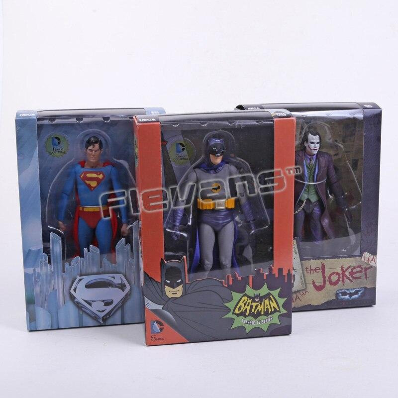 """Image 2 - Нека DC комиксы БЭТМЭН Супермэн Джокер ПВХ экшн фигурка коллекционная игрушка 7 """"18 смthe jokerdc comicscomics batman  АлиЭкспресс"""