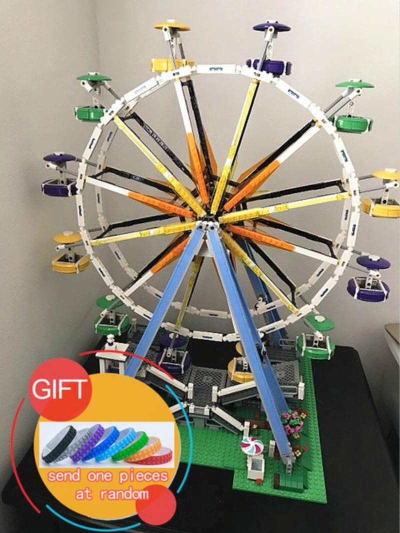 15012 2478Pcs City Series Expert Ferris Wheel set Model Building Kits Blocks Compatible with 10247 toys lepin lepin 15012 2478pcs city series expert ferris wheel model building kits blocks bricks lepins toy gift clone 10247