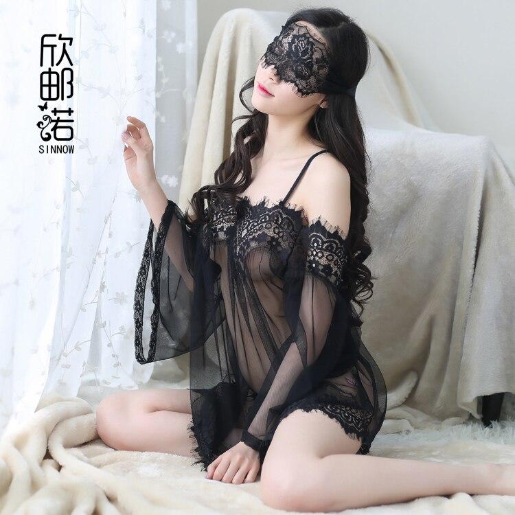 font b 2017 b font font b Female b font Perspective Sexy Nightdress Strapless Lace