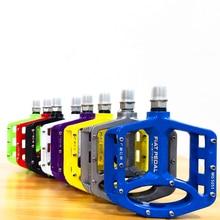 Pedales de aleación de magnesio para bicicleta de carretera, ultraligeros, accesorios de piezas de bicicleta de montaña, 8 colores opcionales