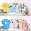 summer of 2017 ins explosion of children short sleeved baby T-shirt 5pieces/lot, random patterns