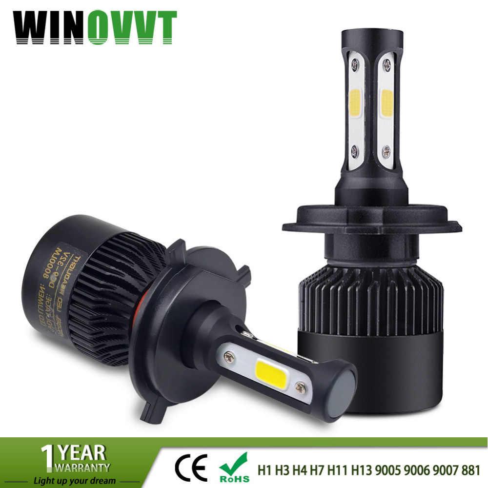 One Pair H4 H7 Led H1 H3 H11 H13 9005 9006 9007 881 LED Car Headlight Bulb 72W 8000lm Auto Car Light Headlamp Fog Lamp 6500k 12V