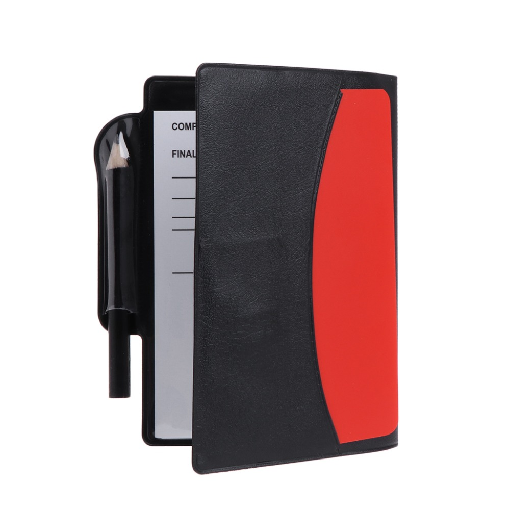 цена на New Sport Football Soccer Referee Wallet Notebook with Red Card and Yellow Card